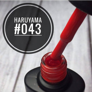 Beautiful haruyama gel nail polish for manicures and pedicures