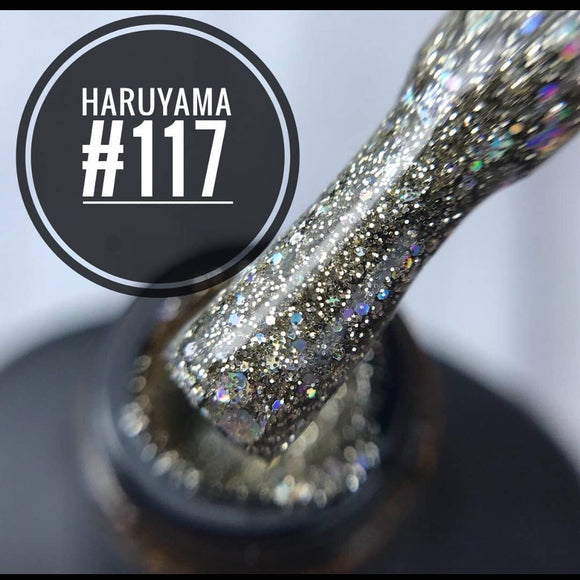 High quality Haruyama Glitter gel polish for manicures and pedicures