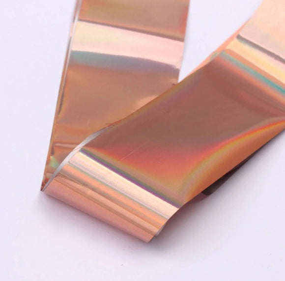 Beautiful holographic rose gold foil