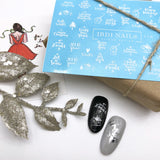 Winter nail decals and sliders perfect for christmas