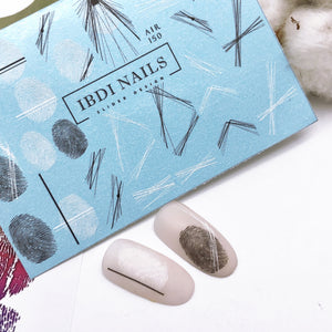 Abstract nail decals and sliders