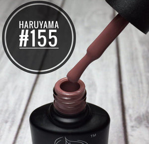 Haruyama 155 Red gel nail polish for Russian manicures and pedicures