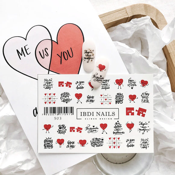 IBDI Valentines Day nail decals for manicures and pedicures