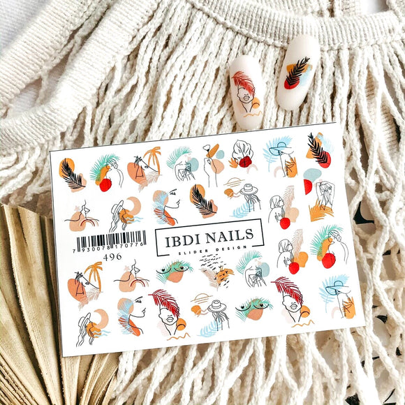 IBDI Feather nail decals
