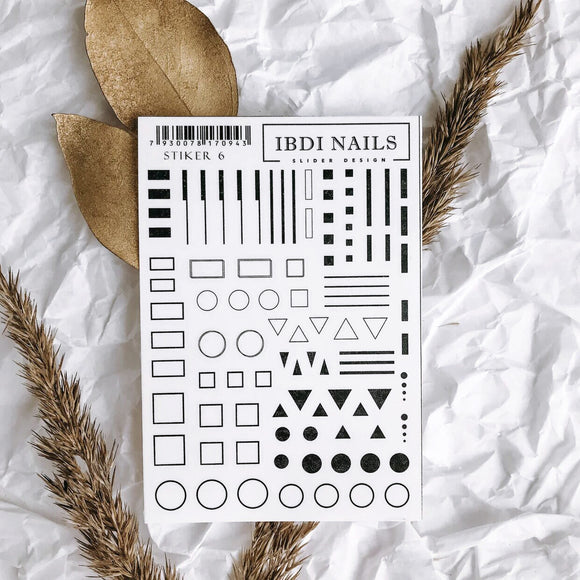 IBDI Geometric nail stickers
