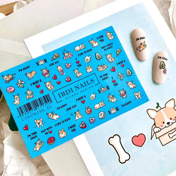 IBDI Dog nail decals for manicures and pedicures