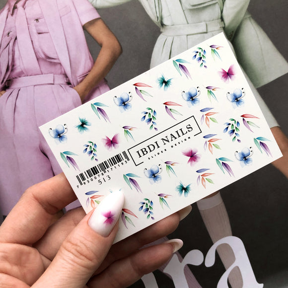 IBDI Floral nail decals for manicures and pedicures