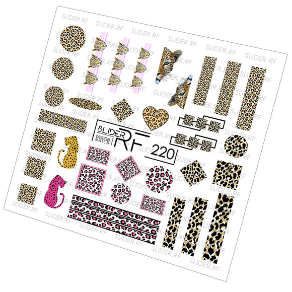 Slider.RF Leopard print waterslide nail decals