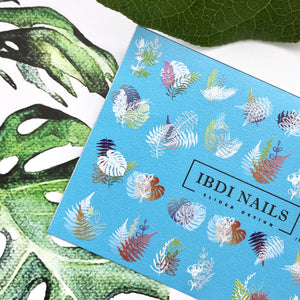 IBDI Abstract leaf nail decals / sliders