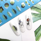 Abstract flower nail decals and sliders for a beautiful manicure or pedicure