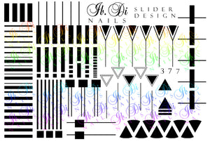 IBDI B&W Geometry nail decals / sliders #377