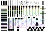 IBDI B&W Geometry nail decals / sliders
