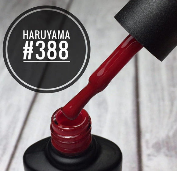 Haruyama 388 red gel nail polish for Russian manicures and pedicures 388