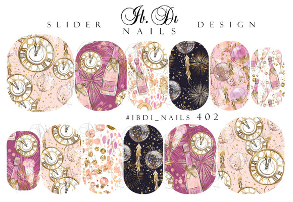 Happy new years nail decals and sliders