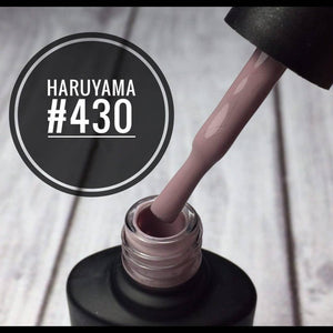 Beautifully smooth dark beige Haruyama gel polish for manicures and pedicures