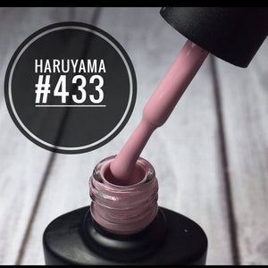 Beautiful silky pink Haruyama gel nail polish for manicures and pedicures