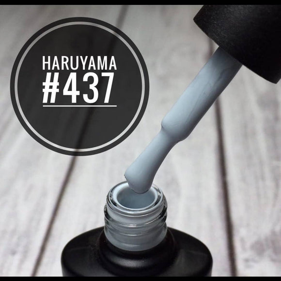 Gorgeous blue grey Haruyama gel polish for manicures and pedicures