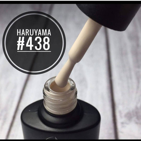 Beautiful cream Haruyama gel polish for manicures and pedicures