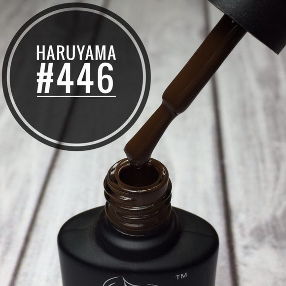 Brown Haruyama gel polish 446 for manicures and pedicures
