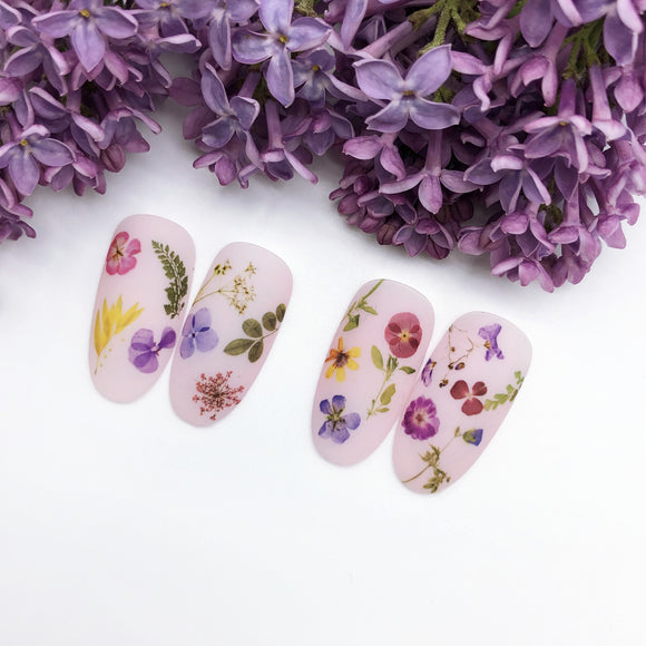 Summer time flower nail decals and sliders for manicure or pedicure