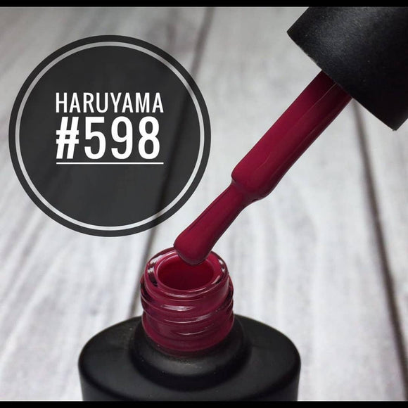 Beautiful maroon Haruyama gel polish for a manicure or pedicure