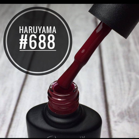 Burgundy gel nail polish. Haruyama polish for manicures and pedicures