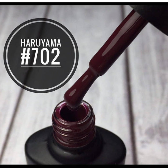 Dark rich red Haruyama Gel nail polish for manicures and pedicures