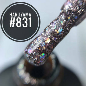 Haruyama glitter gel nail polish for manicures and pedicures