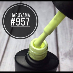 Hot yellow Haruyama gel nail polish for manicures and pedicures