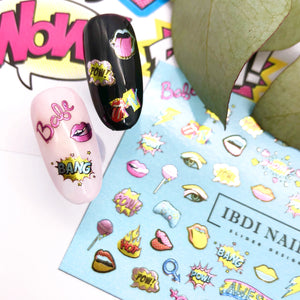 Hip and cool rock designer nail decals and sliders for manicure or pedicure