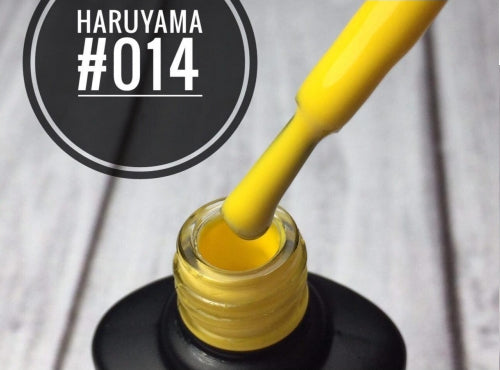 Haruyama yellow gel nail polish 014