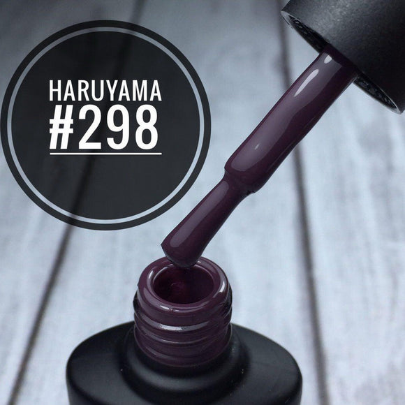 Haruyama Purple gel nail polish 298 for Russian manicures and pedicures
