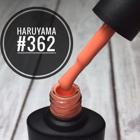 Haruyama orange gel nail polish 362 for Russian manicures and pedicures