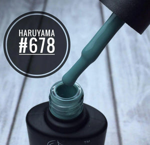 Haruyama green gel nail polish 678 for Russian manicures and pedicures