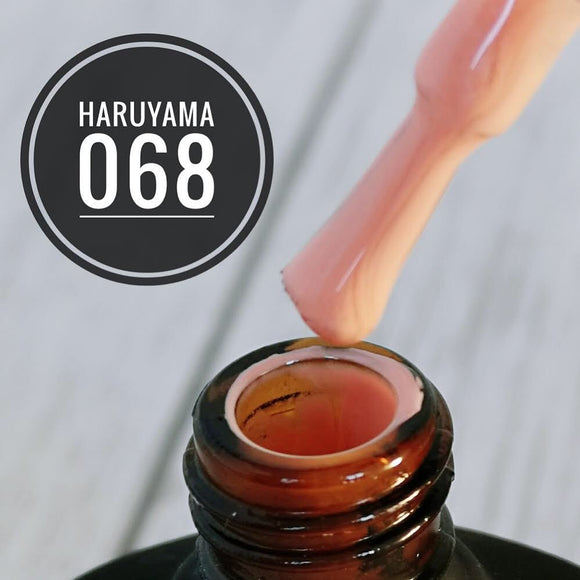 Beige Haruyama gel polish 068 used for manicures and pedicures