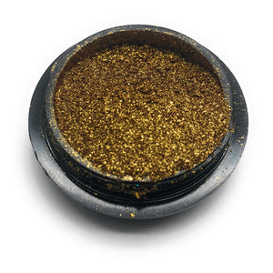 Gold pigment powder for manicures and pedicures