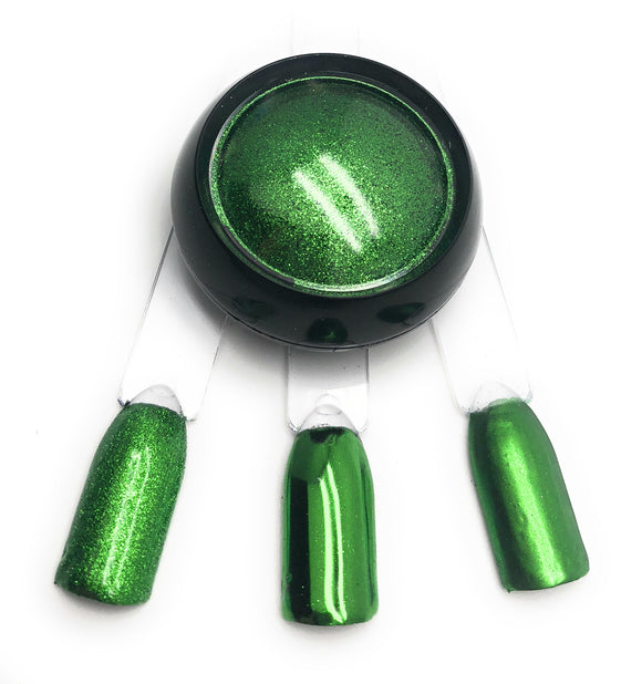 NOCTÍS Green chrome metallic pigment powder for Russian manicure