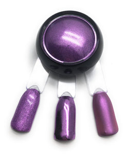 Violet purple nail pigment powder for manicures and pedicures