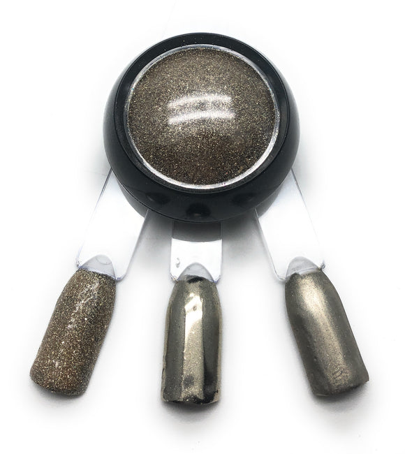 NOCTÍS Dark silver chrome nail pigment powder for dry machine manicures