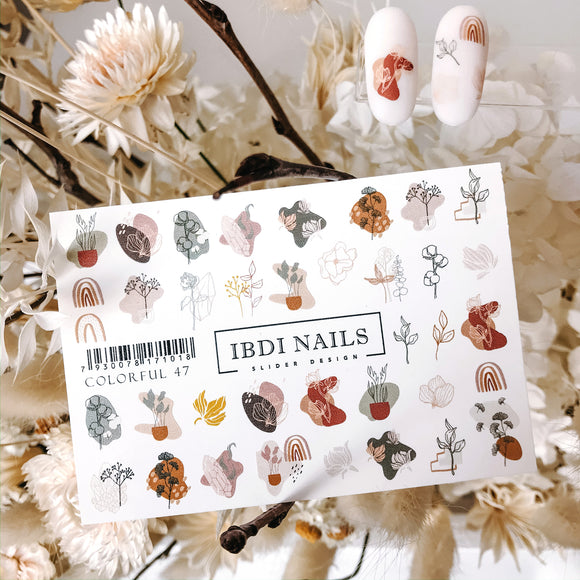IBDI Leaf and Fashion nail decals / sliders