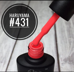 Haruyama 431 orange gel nail polish for Russian manicures and pedicures