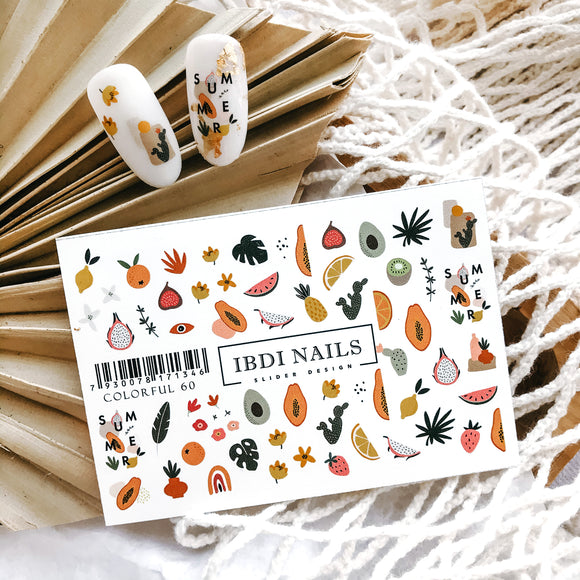 IBDI Fruit nail decals
