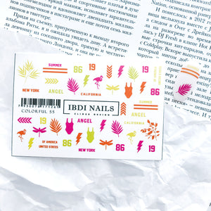 IBDI Summer nail decals for manicures and pedicures