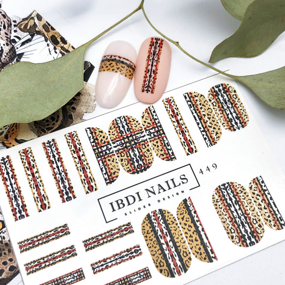 Beautiful leopard nail decals for manicures