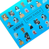 IBDI nail decals for manicures and pedicures