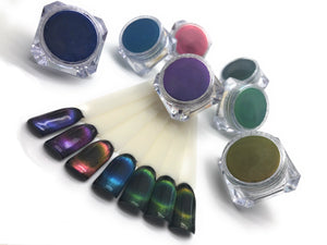 Cat eye 5d gel powder for manicures and pedicures