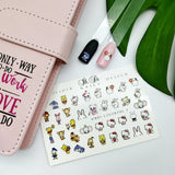 Hello kitty nail decals for a manicure or pedicure