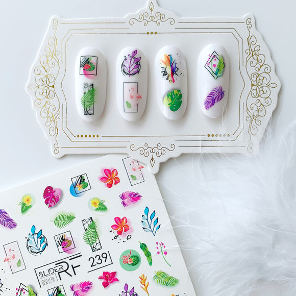 Slider.RF Leaf nail decals / sliders