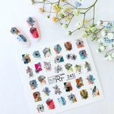 Slider.RF Abstract leaf waterslide nail decals