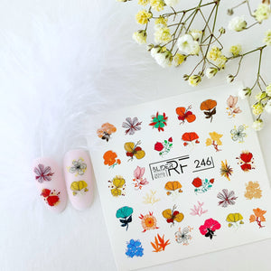 Slider.RF Flower nail decals / sliders